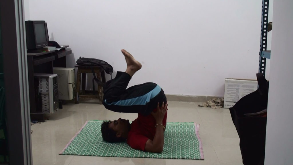 How to do halasana plough pose for beginners and its benefits by now fold your legs and lift your legs in back direction now try to push your back with the help of your hands palms by pressing such that the heel or solutioingenieria Images
