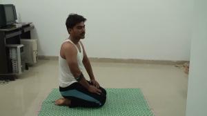 Vajrasana - relax pose - 10 min
