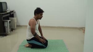 Vajrasana pose initially -How to do Head Stand Pose or Sirsasana
