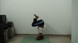 Half way - Sirsasana pose