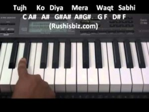Aashiqui2 Tum Hi Ho Piano notes - Video Tutorials