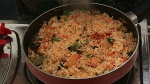 Red chili rice recipe
