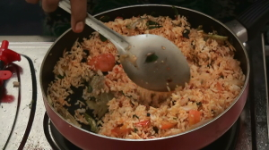 How to prepare Red Chili Rice