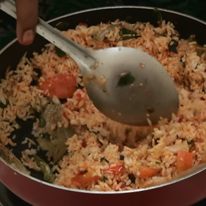 How to prepare Red Chili Rice – Indian Recipes