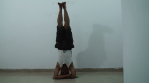 Bound Hands Headstand