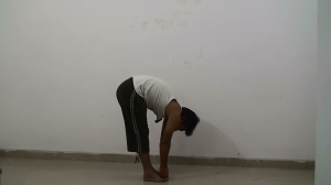 Padahastasana - Hand under foot pose