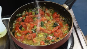 Delicious Egg Tomato Curry Making