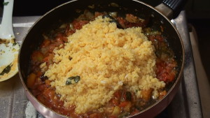 Moong Dal Curry With Tomato Making