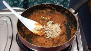 add-cashewnut-powder - Boiled Egg Masala Curry - Making