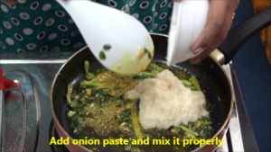 onion-paste - Boiled Egg Masala Curry - Making