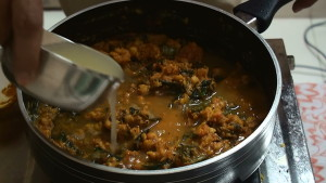 Bengal Gram Curry Preparation
